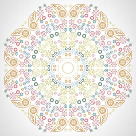 wallpapper: Rotonda seamless di fiori colorati