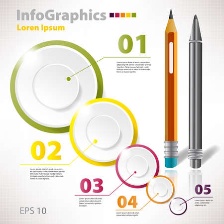 Modern vector elements for infographics with circles
