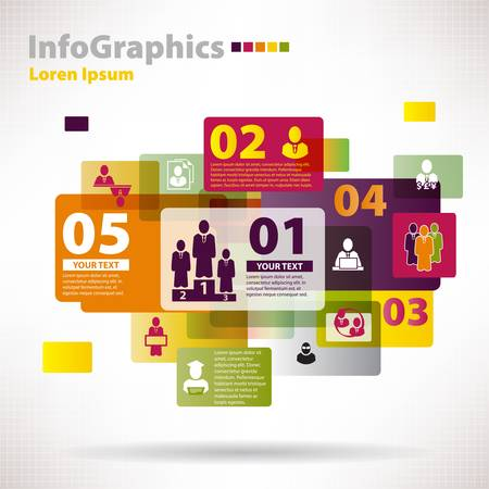 Modern vector elements for infographics with clouds and banners