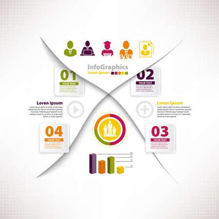 divides: Plantilla infograf�a moderna para el dise�o de negocios vinculados a la fractura y los gr�ficos