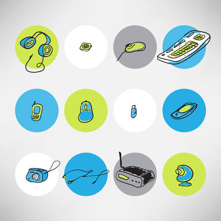 Icons devices for home use Vector