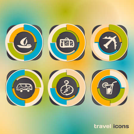 Set of icons on a theme of travel Vector