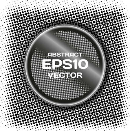 Abstract black background of the rasterized point with space for text Vector