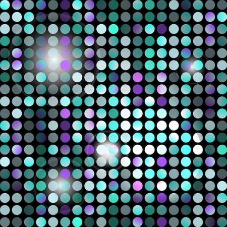 fondo luminoso: Modelo incons�til abstracto de puntos de colores con luz de fondo Vectores