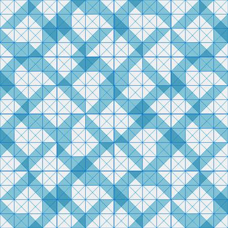 Seamless pattern of blue plaid geometric shapes Illustration