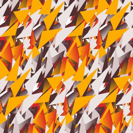 colores calidos: Modelo incons�til de la materia textil de tri�ngulos de colores en tonos c�lidos