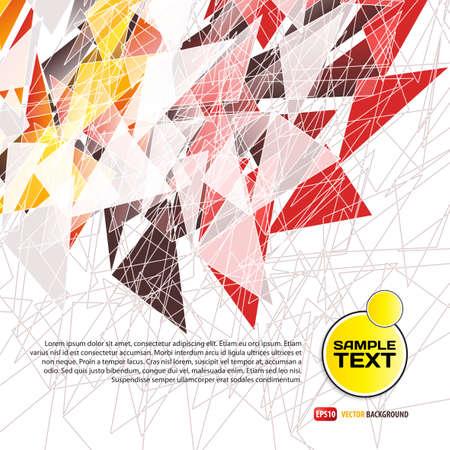 colores calidos: Antecedentes de tri�ngulos de colores en tonos c�lidos, con espacio para el texto