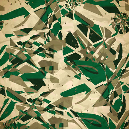 Textile seamless pattern of green abstract explosions