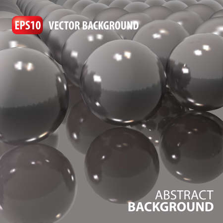 retailing: 3d vector template background. Abstract glass balls illustration