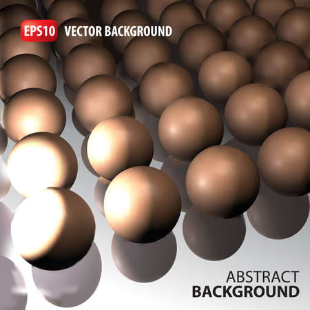 retailing: 3d vector template background. Abstract gold balls illustration