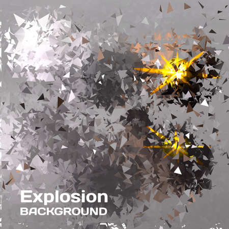 shatter: Abstract background of exploding balls polygonal