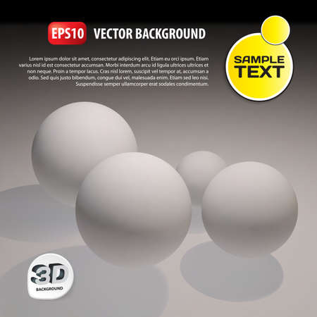 retailing: 3d vector template background. Abstract balls illustration