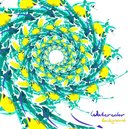 vegetative: Background of abstract watercolor vegetative pattern with space for text