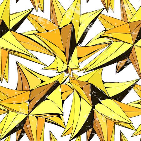 colores calidos: Tela sin patr�n de tri�ngulos amarillos en colores c�lidos
