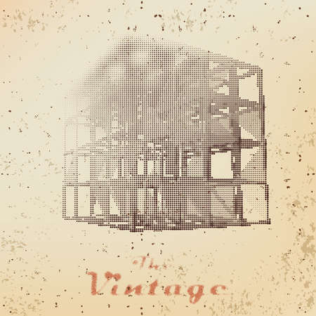 faded: Abstract background of vintage cage on faded worn paper