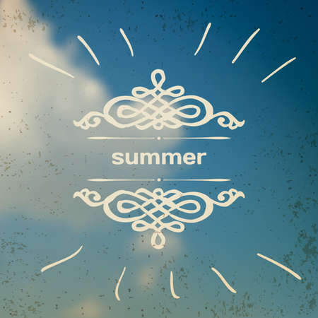 summer sky: Blurred photographic vector background with summer sky