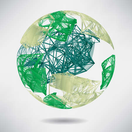 green technology: Abstract background with green sphere on theme digital technology and internet