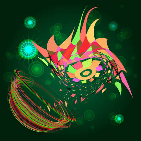whirling: abstract pattern spiral whirling in space Illustration