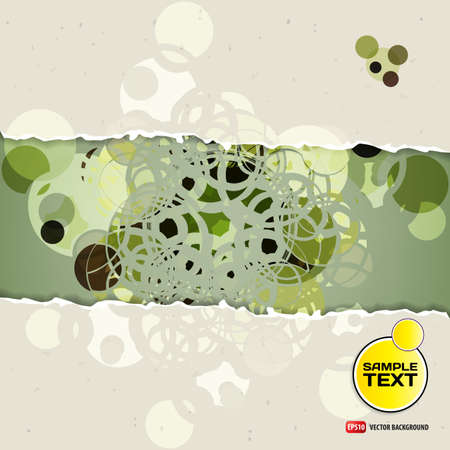 light green background: Abstract background of a circular symmetrical design with space for text Illustration