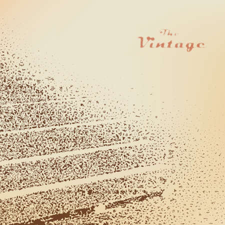 worn paper: Background stairs engraved dots and spots on faded worn paper in vintage style Illustration