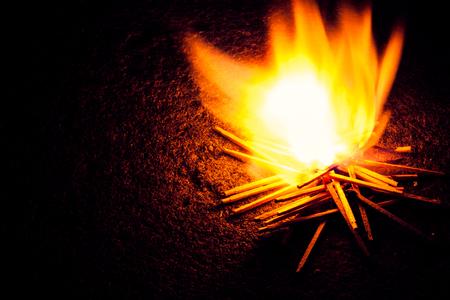 cerillos: Partidos fuego Foto de archivo