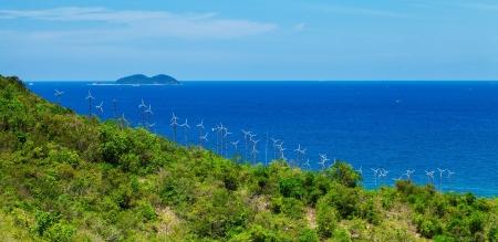 recursos naturales: La energía eólica planta Koh Larn