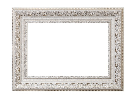 baroque frame: a blank picture frame