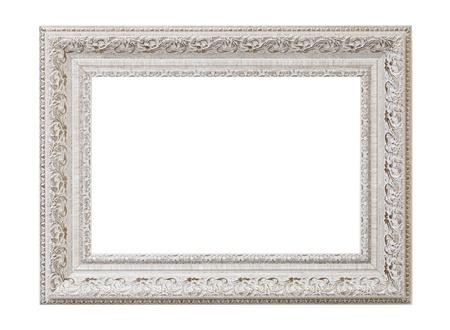 Baroque picture frame: un cadre photo vide Banque d'images