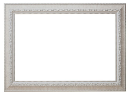 white frame: a blank picture frame