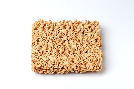 instant noodle: Dry noodle on white background
