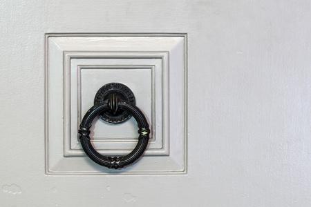 metal door handle knocker Stock Photo
