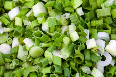 Cut green onion prepared for cooking