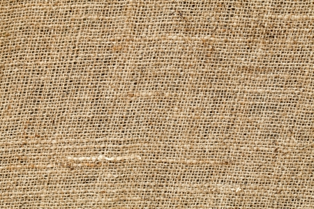 rattan mat: close up of yellow sackcloth