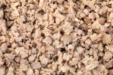 close up of minced pork