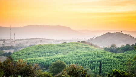 nam: hill and mountain view at Wang Nam Khiao