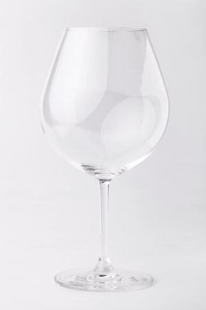 empty wine glass in isolated photo