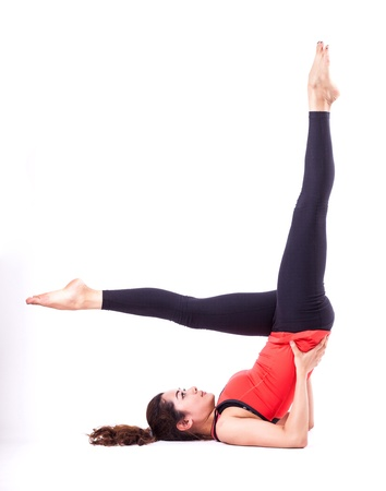 femme dans l'action pilates photo