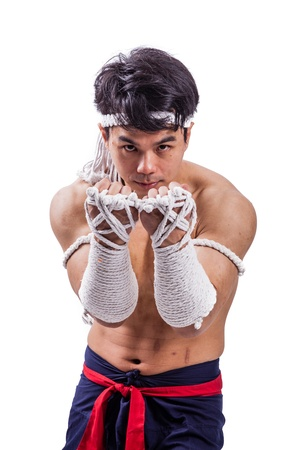 thai boks tajski bokser z działań photo