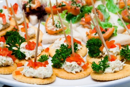 close up of catering food Imagens