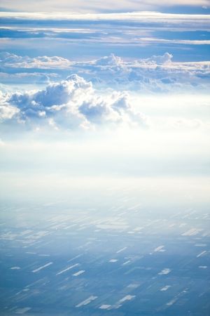 cloud and sky view from a airplane photo