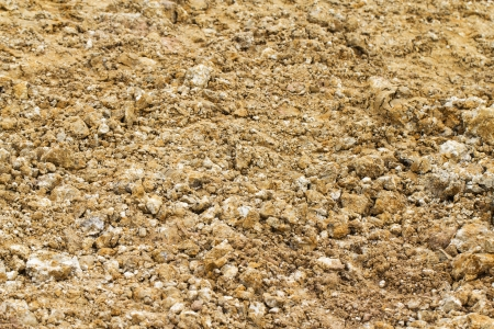natural brown soil and pebble pattern on ground Stock Photo