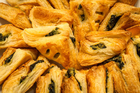 close up of spinach pie