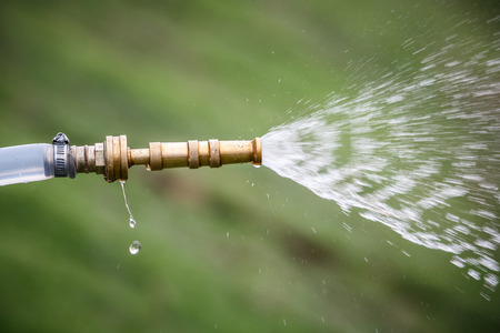 close up of high pressure water jet photo