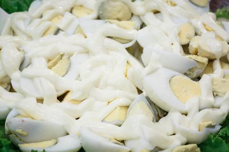 boiled egg salad with mayonnaise sauce