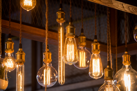 home accessories: classic incandescent decorate in the shop Stock Photo