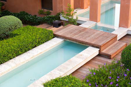 violet residential: private swimming pool with garden