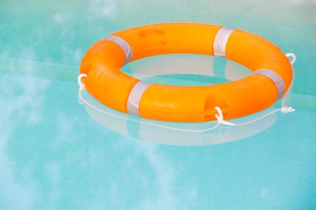 buoy: orange buoy in swimming pool