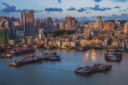 Cityscape of Macau Macao city landscape Stock Photo