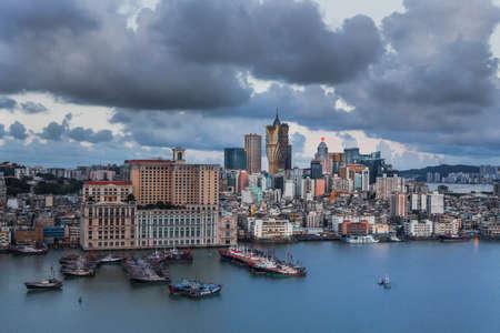 Cityscape of Macau Macao city landscape Editorial