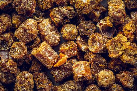 꿀벌 빵 매크로 배경 질감입니다. 평면도 스톡 콘텐츠
